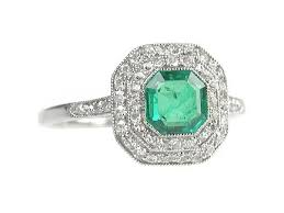 emerald rings uk diamond emerald ring 0 55ct emerald 0 40cts diamonds