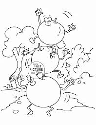cherry on the cherry fruit coloring page for kids fruits coloring