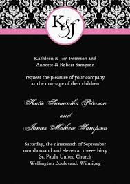Black And White Wedding Invitations Black And White Wedding Invitation Templates Wedding Decorate Ideas