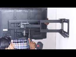 tv wall mount swing out tono flat screen tv wall mount swivel installation youtube