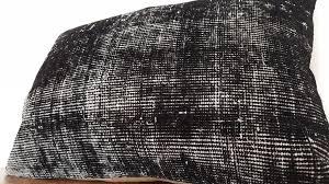 Black Rugs Black Rug Pillow Cover Overdyed Cushion Elegance U2013 Bosphorus Rugs