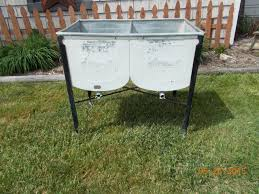 Antique Soapstone Sinks For Sale by Vintage Galvanized Ideal Standing Double Wash Tub Basin Sink Local