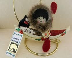 new alaskan alaska handmade ornament figurine native eskimo boy on