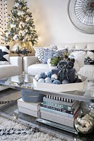 christmas livingroom blue black and white christmas cuckoo4design
