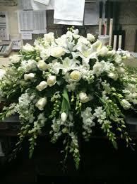 memorial flowers garden florist paducah kentucky all white casket spray