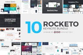 rocketo keynote templates bundle presentation templates