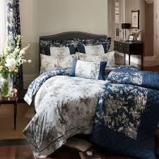 dorma birds of paradise bed linen blue bradbeers