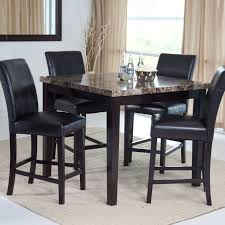 Chair Charming High Kitchen Table Set Black Round Dining Room - Round dining room table sets