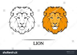 vector illustration lion head black color stock vector 301650848