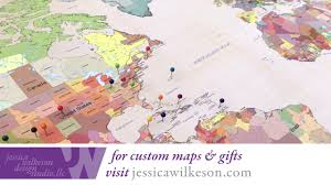 Push Pin Map How To Frame A Push Pin World Map In 2 Minutes Cotton