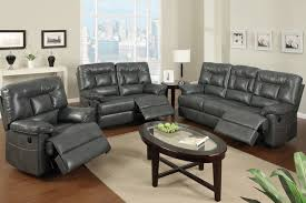 Modern Gray Leather Sofa Modern Gray Leather Reclining Sofa Loveseat Power Motion
