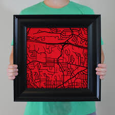 San Diego State University Campus Map by San Diego State University Campus Map Art City Prints