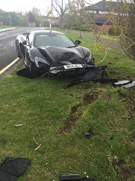 p1 crash horror as motorist crashes 200 000 mclaren supercar into a tree