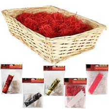 create your own gift basket large christmas kit cellophane bow craft basket make your