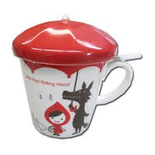 cool cups in the hood little red riding hood cup with tea strainer and umbrella lid 16 50