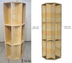 octagon rotating bookshelf her tool belt