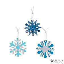 blue magic color scratch snowflake ornaments