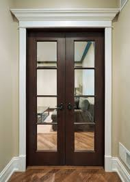 Interior Door Designs For Homes Interior Door Custom Double Solid Wood With Walnut Finish