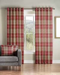 Pink Tartan Curtains Ready Made Curtains Montgomery