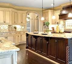 two color kitchen island contrasting land powell story with