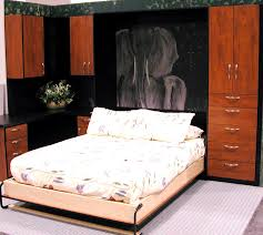 full size murphy bed cabinet bedroom black and brown stained wooden murphy bed cabinet with