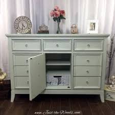 shabby chic dresser with decoupaged drawers by just the woods
