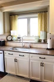 kitchen kitchen curtains on pinterest with brown wooden cabinet