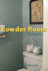 my 3 monsters a powder room makover on a budget