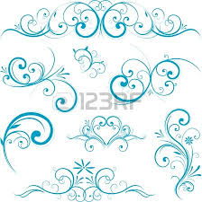 blue swirl design ornaments royalty free cliparts vectors and
