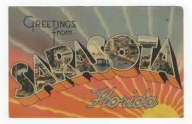 greetings from sarasota florida vintage postcard vintage