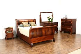 empire antique 4 pc bedroom set full size sleigh bed signed empire antique 4 pc bedroom set full size sleigh bed signed berkey gay