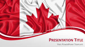 History Of Canadian Flag Canada Flag Powerpoint Template Presentationgo Com