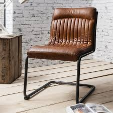 Vintage Brown Leather Armchair Dining Room Krista Madras Leather Chair Brown Atlantic Shopping