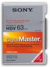 hdv cassette sony phdvm 63dm cassette hdv digimaster 63 petit boitier