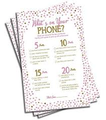 Wedding Shower Games Bridal Shower Games For Guests Amazon Com