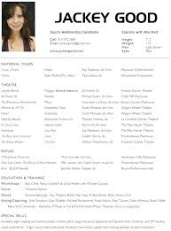Resume Acting Template by Resume Template For Actors Acting Resumes Resume Templates Actors