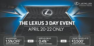 lexus is for sale calgary 3 day sales event spring into savings on a new lexus in calgary