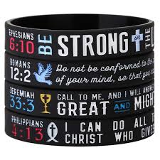 silicone power bracelet images Power of faith christian bible verse silicone bracelets jpg