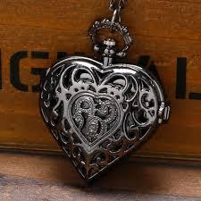 ladies pocket watch necklace images Luxury heart shaped pocket watch rebel goth jpg