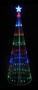 12 multi color led light show cone tree lighted yard
