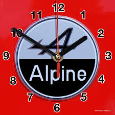 Horloge Murale Rouge by Alpine Renault En Horloge Murale Sur Carosserie Rouge