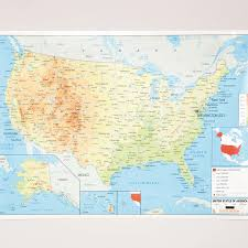Canada Physical Map Buy Usa Physical Map A1 Tts