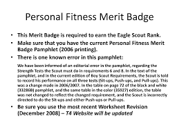 Cooking Merit Badge Worksheet Requirements For Personal Fitness Merit Badge The Best Badge In
