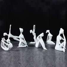 handmade resin figurines white black electrosilvering
