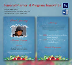 Memorial Program Template Funeral Program Template 16 Word Psd Document Download Free