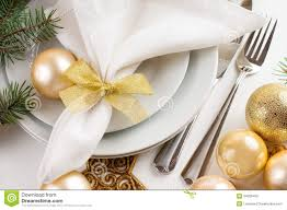 Gold Table Setting by Christmas Table Setting In Gold Tones Stock Photo Image 34306450