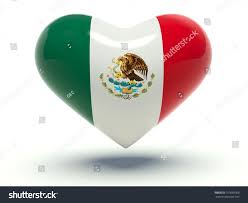 heart mexico flag colors 3d render stock illustration 167699906