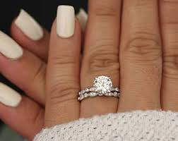 wedding ring sets wedding ring set etsy