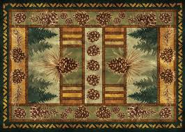 Pine Cone Area Rugs River S Edge Products Inc