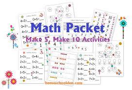 free flower themed math pre k pack free homeschool deals